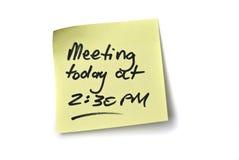 Recordatorio de la reunión Imagen de archivo libre de regalías