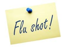 Recordatorio de la vacuna contra la gripe Imagen de archivo libre de regalías