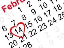 Recordatorio del día de tarjeta del día de San Valentín Foto de archivo