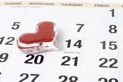 Recordatorio del día de tarjeta del día de San Valentín Fotos de archivo libres de regalías