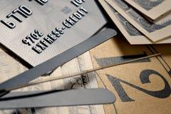 Recordatorio en pagos bajo créditos Fotografía de archivo libre de regalías