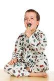 Recorde escovar sempre seus dentes na noite fotos de stock