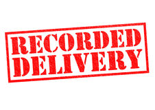 RECORDED DELIVERY Royalty Free Stock Photo