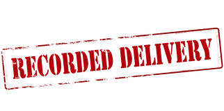 Recorded delivery Royalty Free Stock Photos