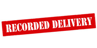 Recorded delivery Royalty Free Stock Image