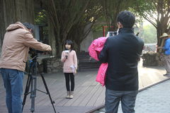 Recorded program of the Small presenters in SHENZHEN. Small host is recording a children's program in SHENZHEN Royalty Free Stock Images