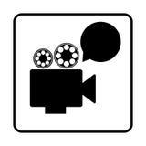 Recorder bubble short film icon Royalty Free Stock Photos