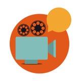 Recorder bubble short film icon Royalty Free Stock Image