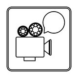 Recorder bubble short film icon Stock Images