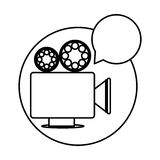 Recorder bubble short film icon Royalty Free Stock Photography