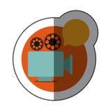 Recorder bubble short film icon Stock Photo