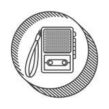 Recorder device icon. Retro recorder device icon. broadcast and media design. vector illustration Stock Image
