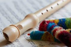 Recorder, Flöte Lizenzfreies Stockbild