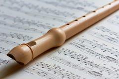 Recorder, flute Stock Photos