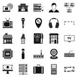 Recorder icons set, simple style Royalty Free Stock Photography