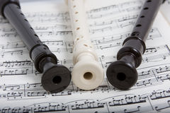 Recorder with music Stock Images