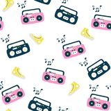 Recorder pattern. Retro style. Royalty Free Stock Images