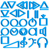 Recorder symbols set Stock Photos