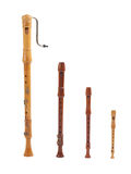 Recorders. Many kinds of recorder for your choice Stock Photos