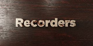 Recorders - grungy wooden headline on Maple  - 3D rendered royalty free stock image. This image can be used for an online website banner ad or a print postcard Royalty Free Stock Photos
