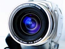 Recording. Camera lens stock photos