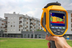 Recording Building With Thermal Camera Stock Photos
