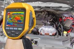 Recording Car Engine Stock Image