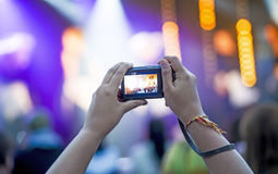 Recording concert Royalty Free Stock Photography