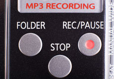 Recording device crop Royalty Free Stock Photo