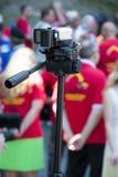 Recording events Stock Photo