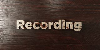 Recording - grungy wooden headline on Maple  - 3D rendered royalty free stock image Royalty Free Stock Photos