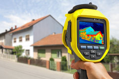 Recording Heat Loss at the House Royalty Free Stock Image