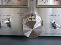 Recording Level Knob closeup Stock Photography