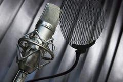 Recording microphone Stock Photos
