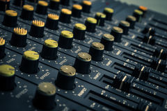 Recording mixer. DJ.music.sound remix image Stock Image