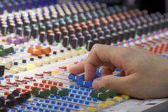 Recording the music Stock Photography