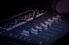 Recording music sound studio sliders Royalty Free Stock Photo