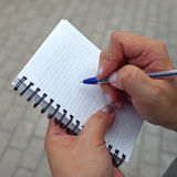 Recording pen in a notebook Stock Images