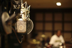 In the recording room Royalty Free Stock Photography