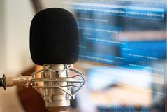 Recording room Singing concept. Relaxationn royalty free stock photography