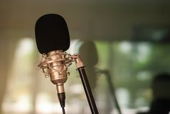 Recording room Singing concept. Relaxationn stock photos