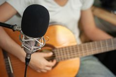 Recording room Singing concept. Relaxationn royalty free stock photos