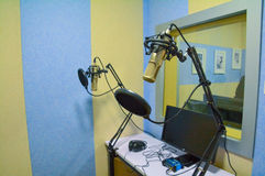 Recording room. Recording studio called studio, it is people in order to create a specific recording acoustic environment conditions and the construction of the royalty free stock photos