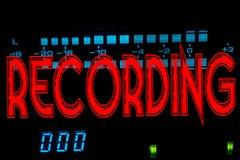Recording sign Stock Photos