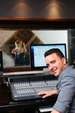 Recording a song Stock Photo
