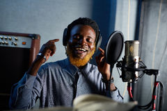 Recording songs Royalty Free Stock Photos