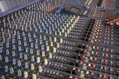 Recording studio. Pro mixing pult at a recording studio Royalty Free Stock Images