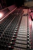 Recording studio. Mixing desk in recording studio Stock Photo