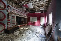 The recording studio. Abandoned and devastated a recording studio Royalty Free Stock Photo