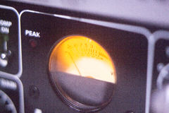Recording studio audio dial Royalty Free Stock Image